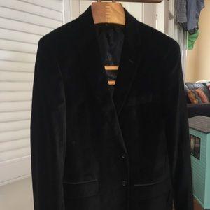 John Varvatos Black Velvet Jacket / Blazer 42 Long
